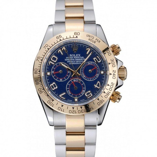 Rolex Cosmograph Daytona Blue Dial Two Tone Stainless Steel Bracelet 1454246
